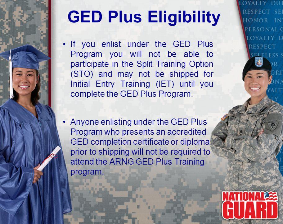 GED Plus Eligibility