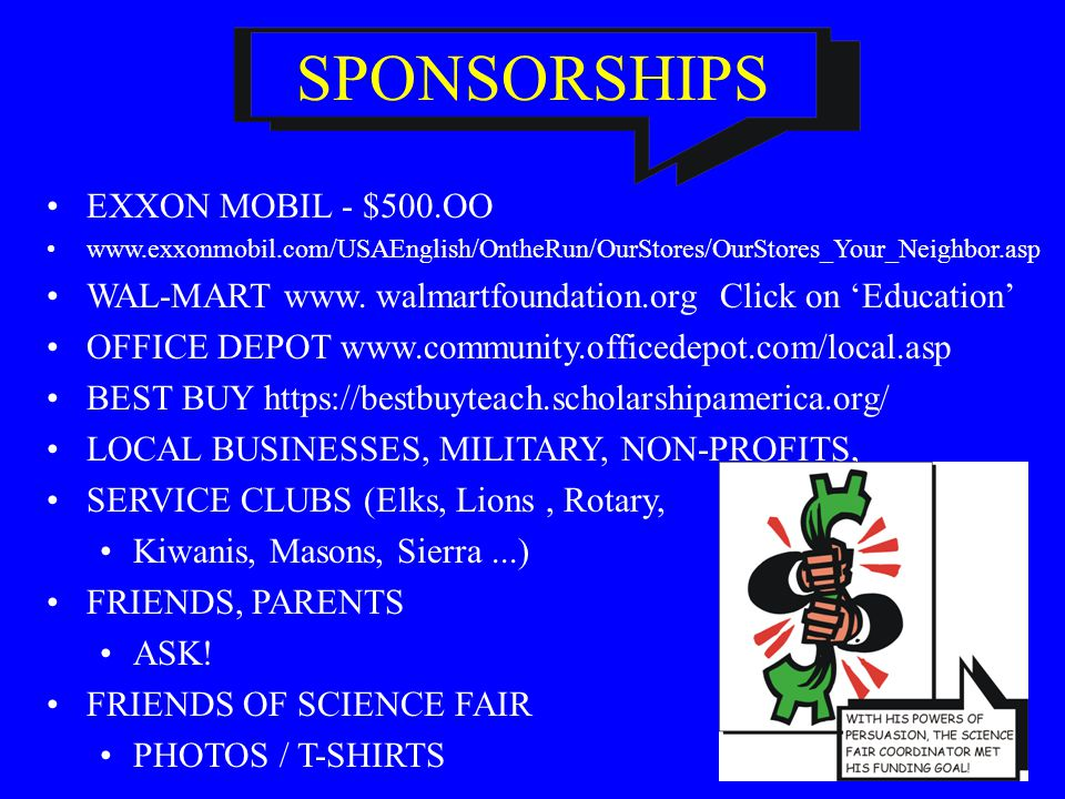 SPONSORSHIPS EXXON MOBIL - $500.OO