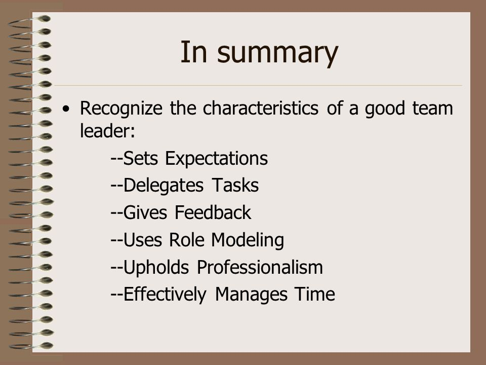 the characteristics of a good leader