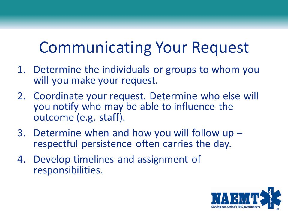 Communicating Your Request