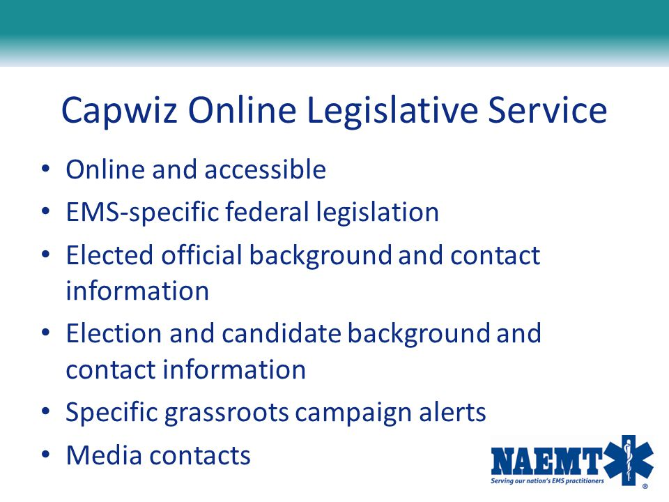 Capwiz Online Legislative Service