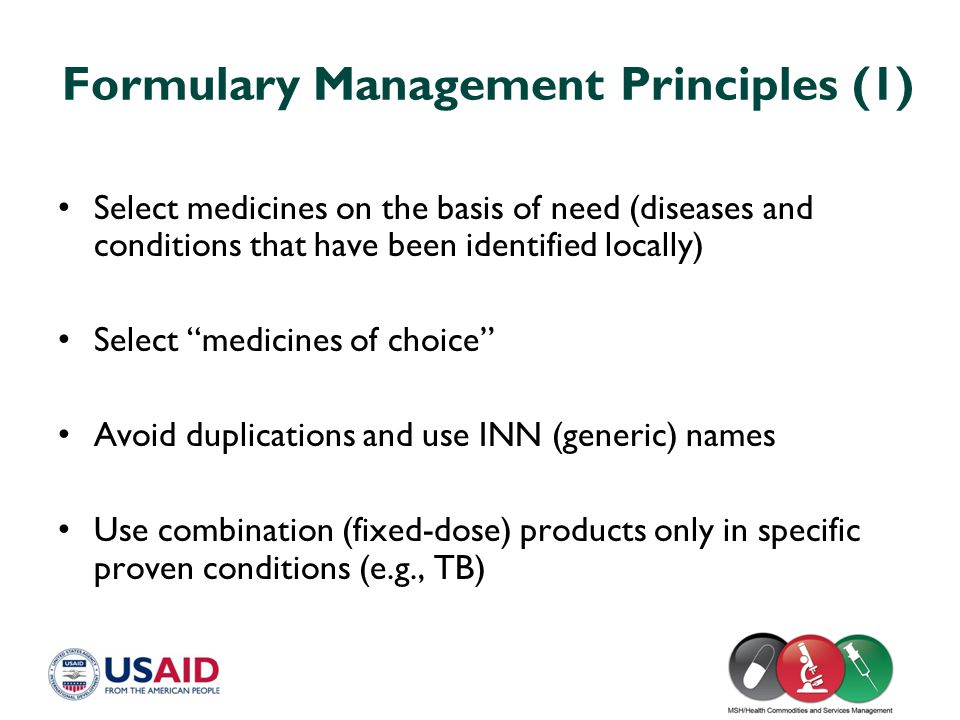 Formulary Management Principles (1)