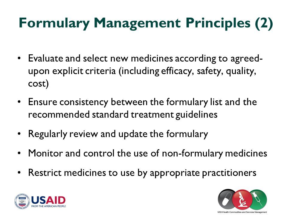 Formulary Management Principles (2)