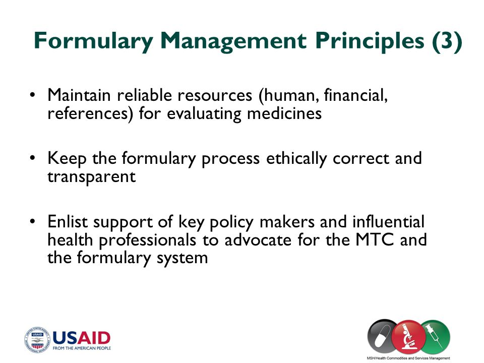 Formulary Management Principles (3)
