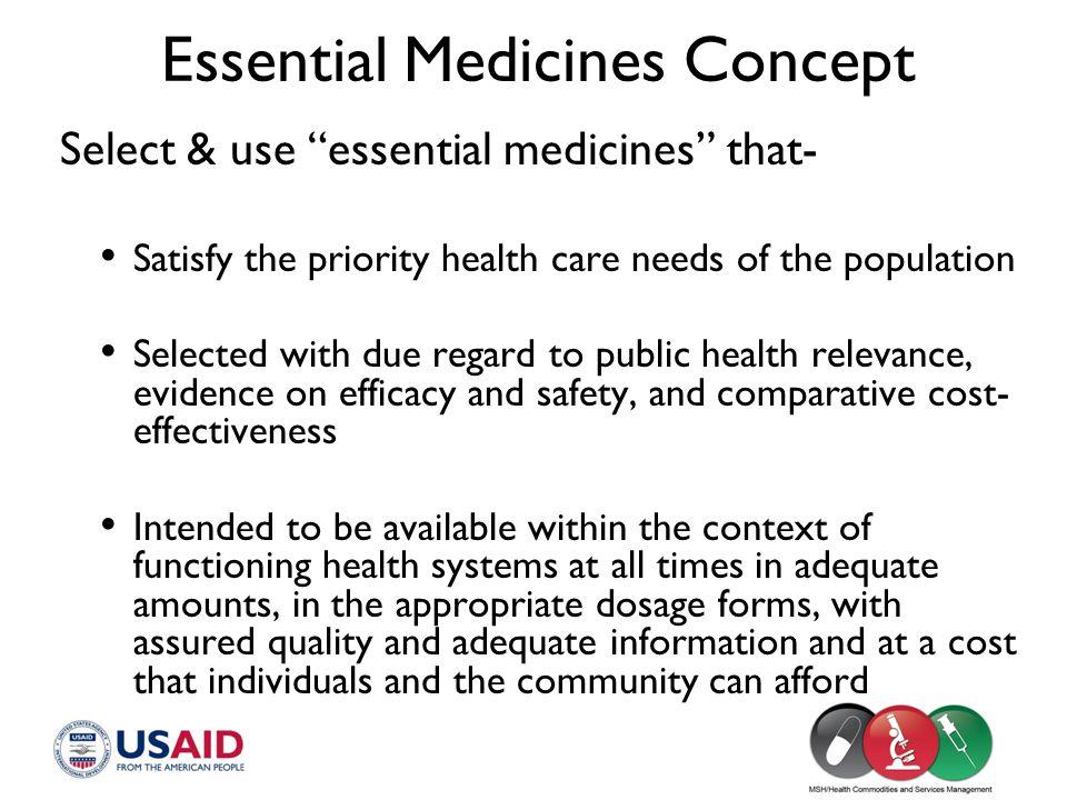 Essential Medicines Concept