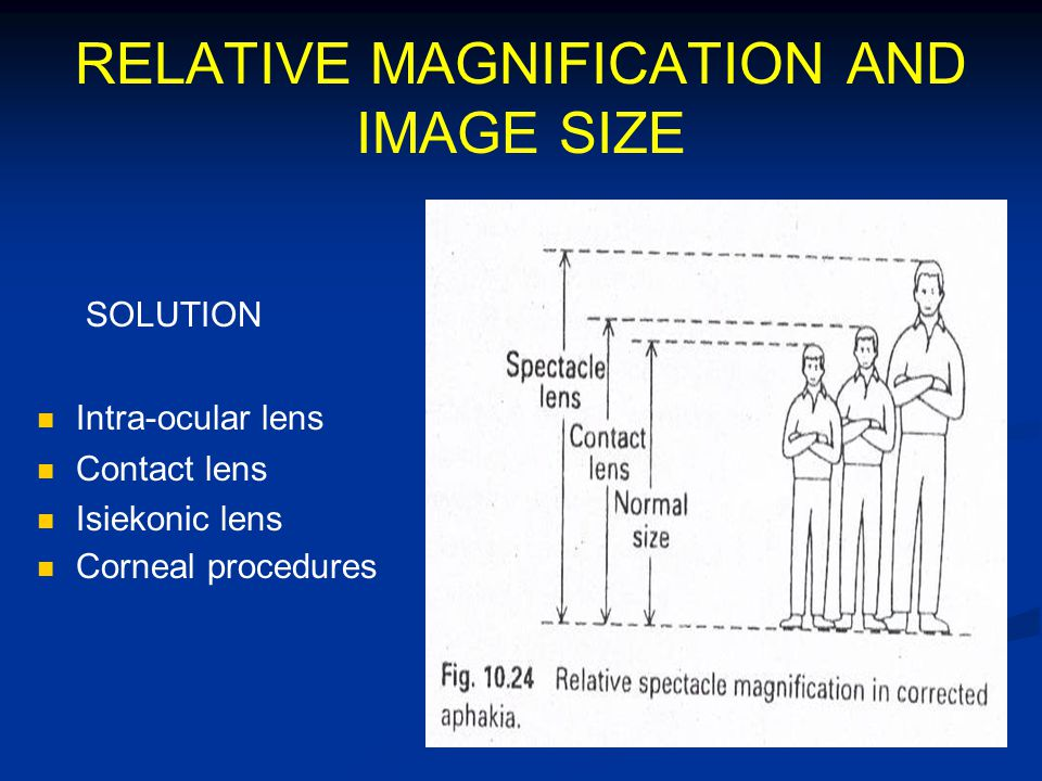 RELATIVE MAGNIFICATION AND IMAGE SIZE