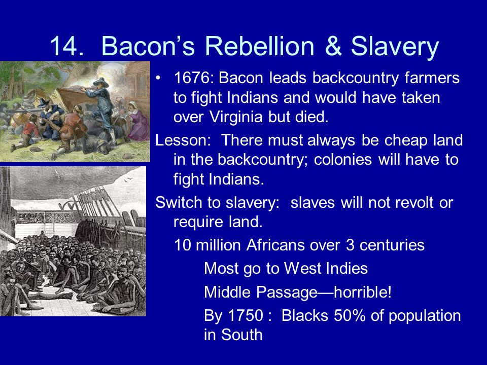 14. Bacon's Rebellion & Slavery