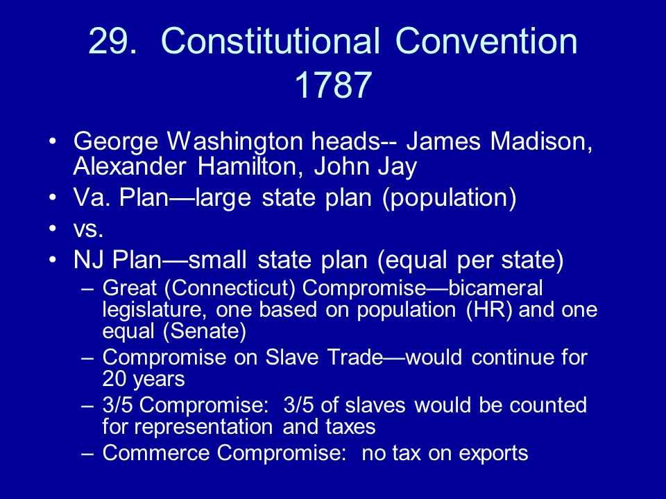 29. Constitutional Convention 1787