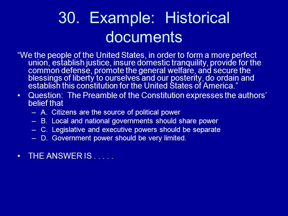 30. Example: Historical documents