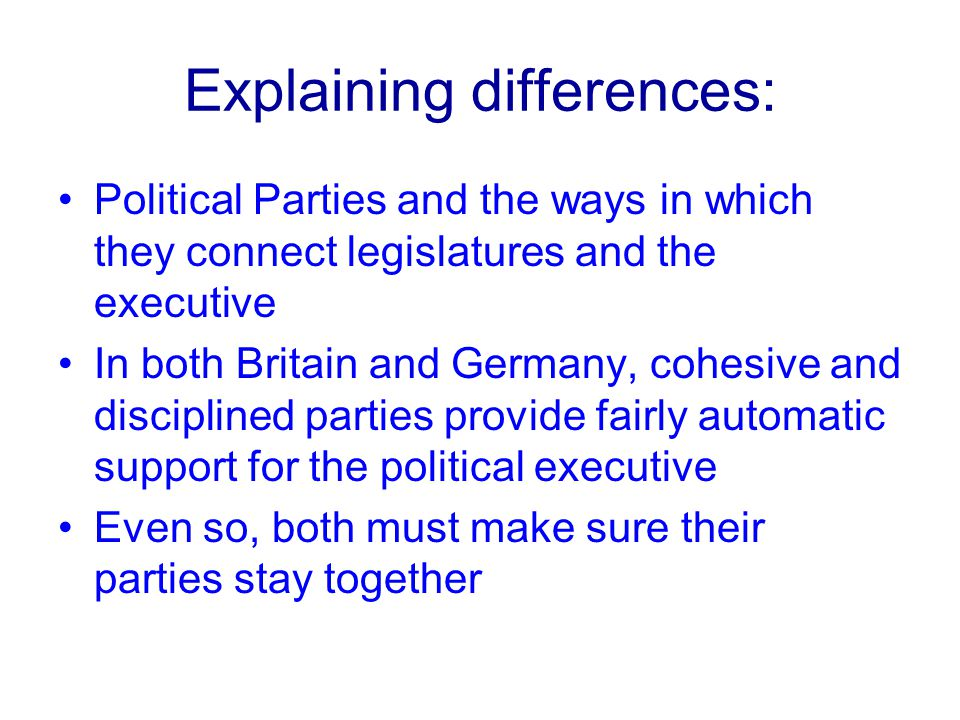 Explaining differences:
