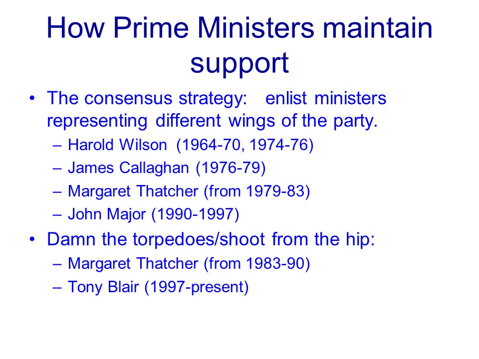 How Prime Ministers maintain support