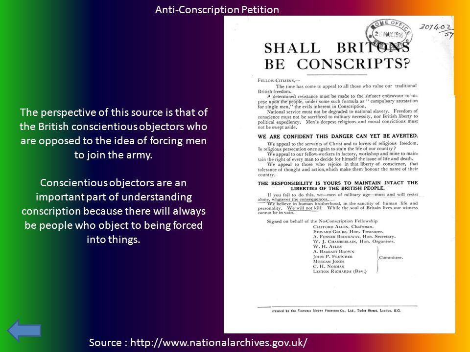 Anti-Conscription Petition