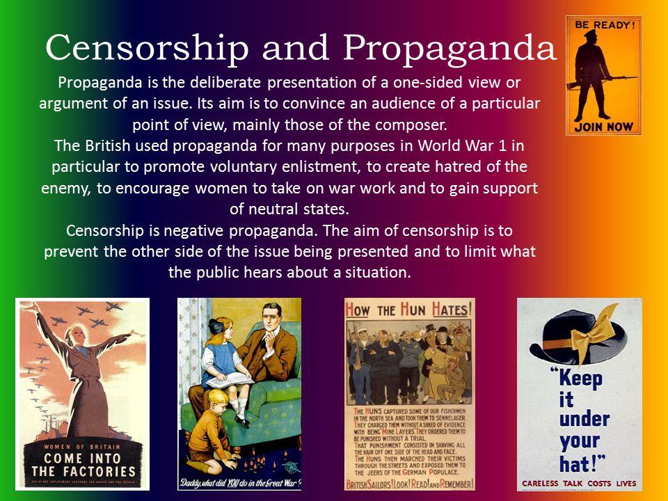 Censorship and Propaganda