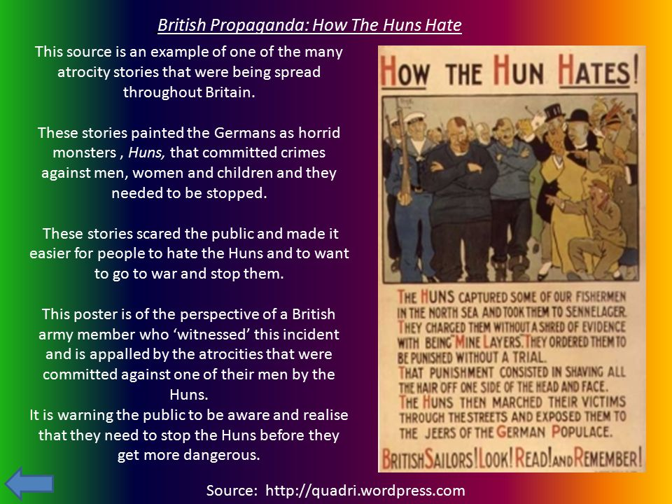British Propaganda: How The Huns Hate