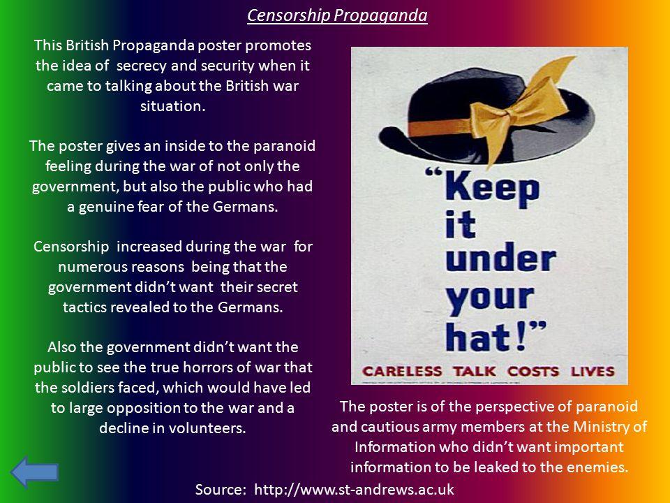 Censorship Propaganda