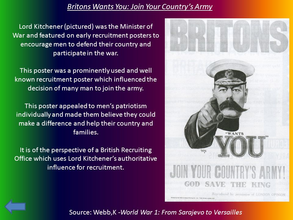 Britons Wants You: Join Your Country's Army