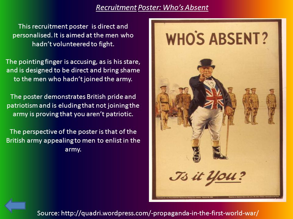 Recruitment Poster: Who's Absent
