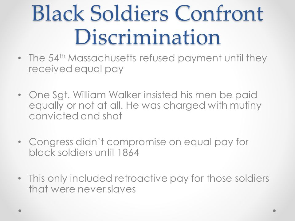 Black Soldiers Confront Discrimination