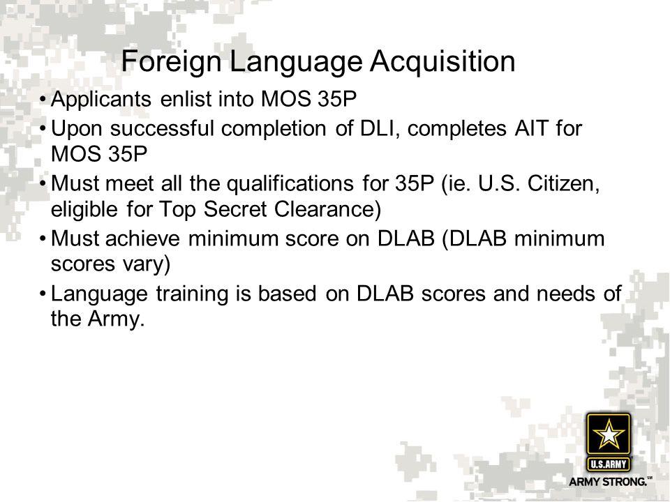 Foreign Language Acquisition