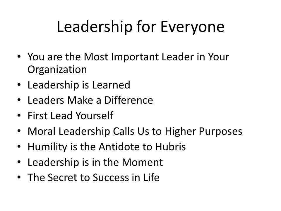 Leadership for Everyone