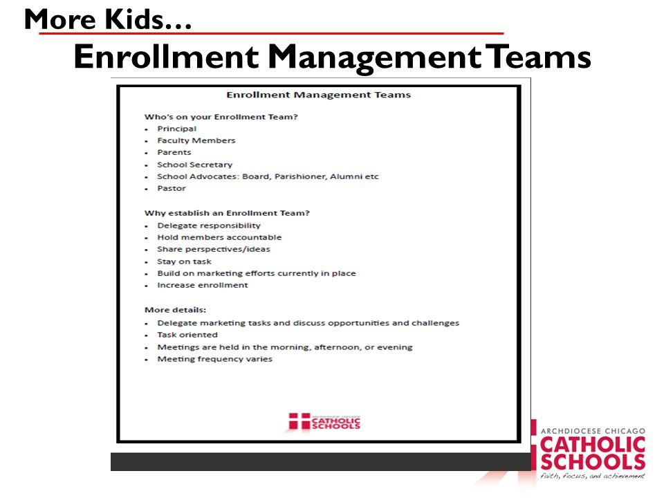 Enrollment Management Teams