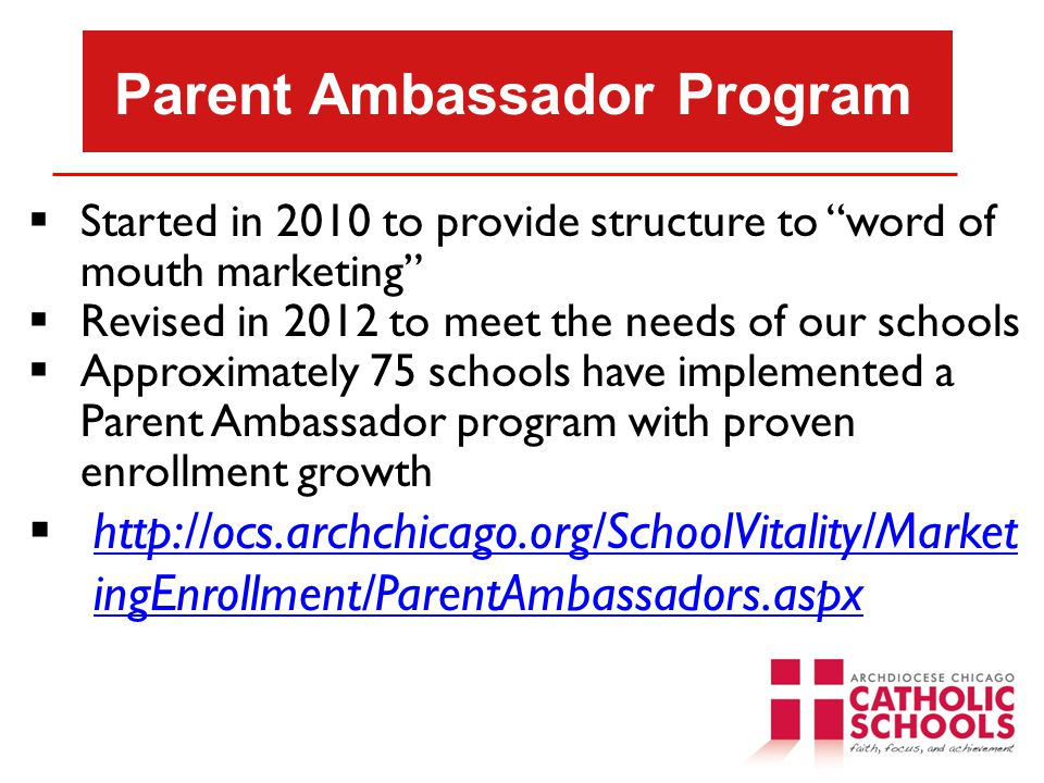 Parent Ambassador Program
