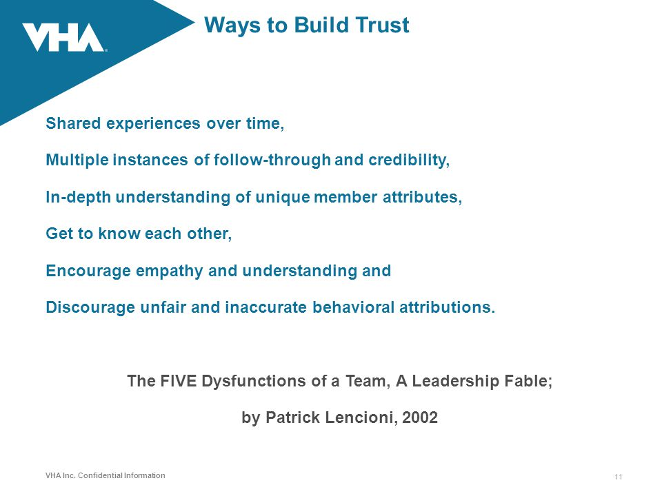 Ways to Build Trust