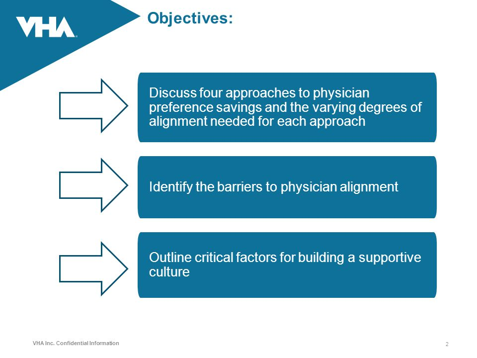 Objectives: Discuss four approaches to physician preference savings and the varying degrees of alignment needed for each approach.
