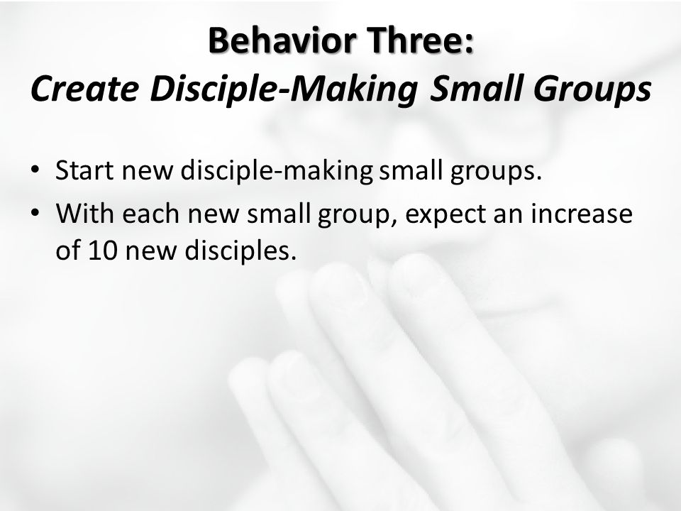 Behavior Three: Create Disciple-Making Small Groups