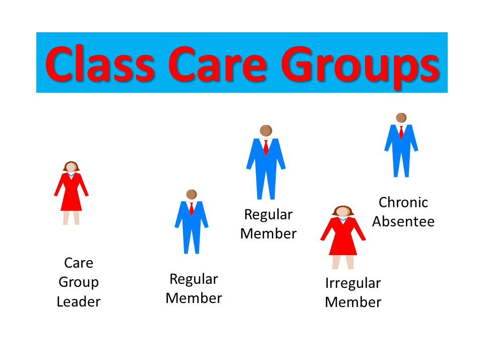 Class Care Groups Chronic Absentee Regular Member Care Group Leader