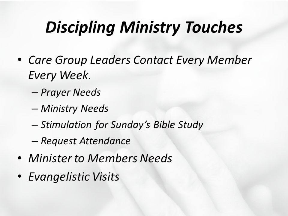 Discipling Ministry Touches