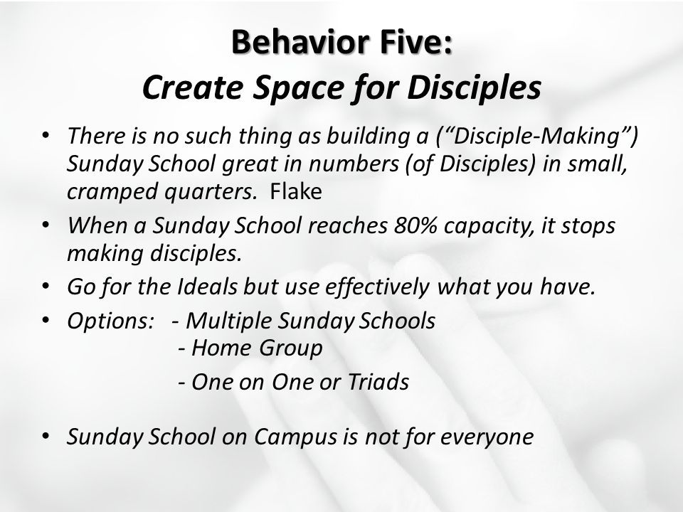 Behavior Five: Create Space for Disciples