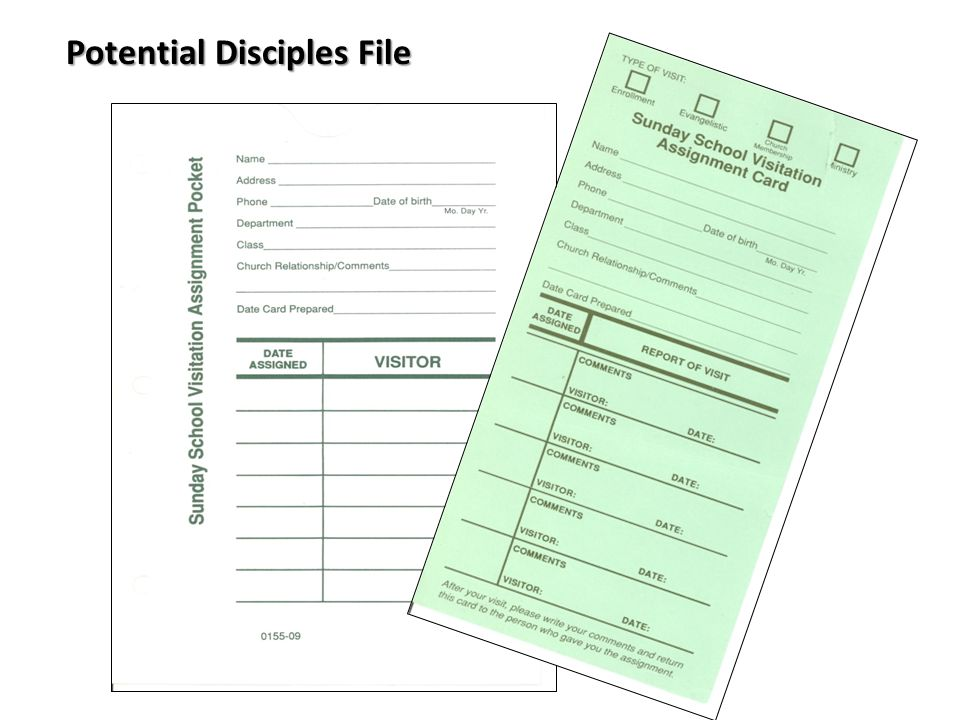 Potential Disciples File