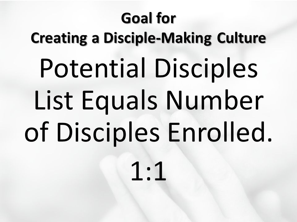 Goal for Creating a Disciple-Making Culture