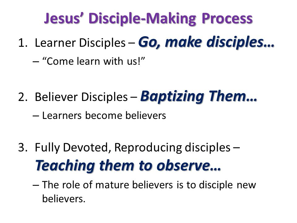 Jesus' Disciple-Making Process