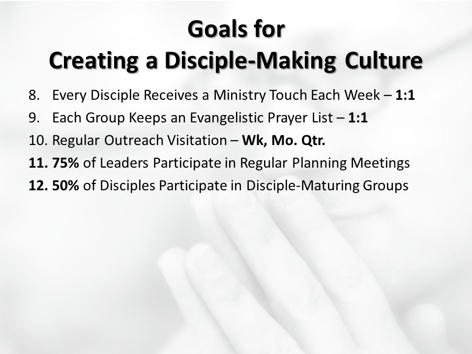 Goals for Creating a Disciple-Making Culture