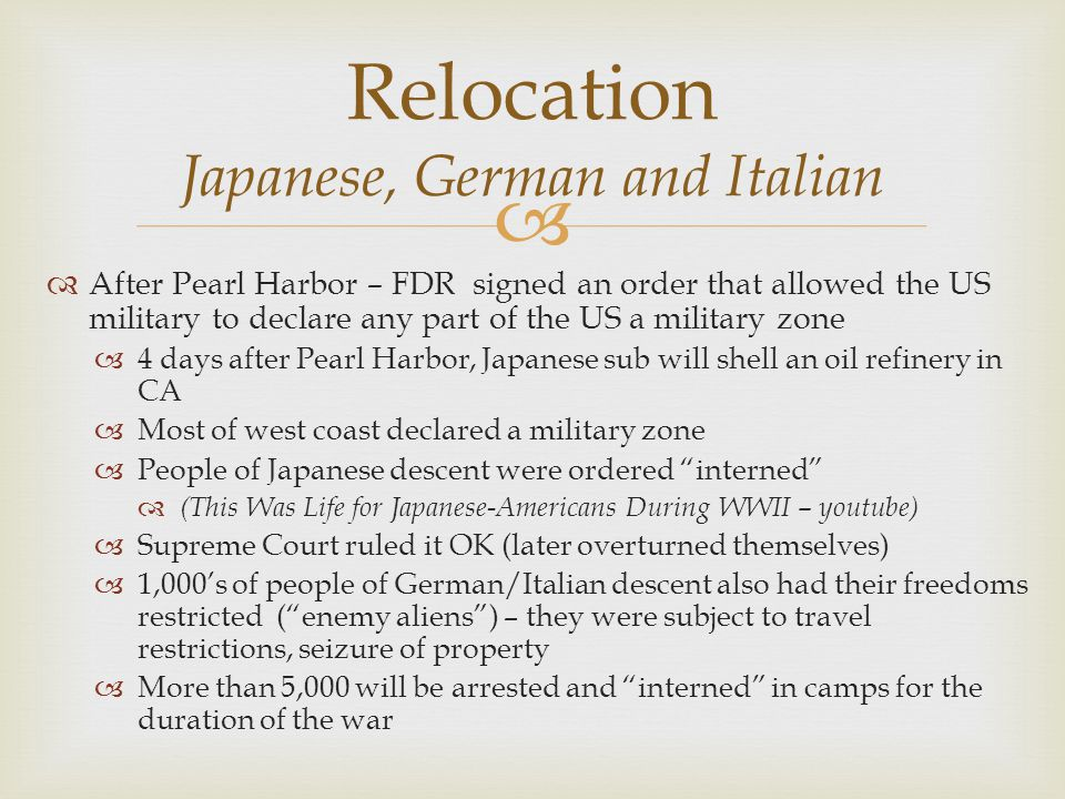 Relocation Japanese, German and Italian
