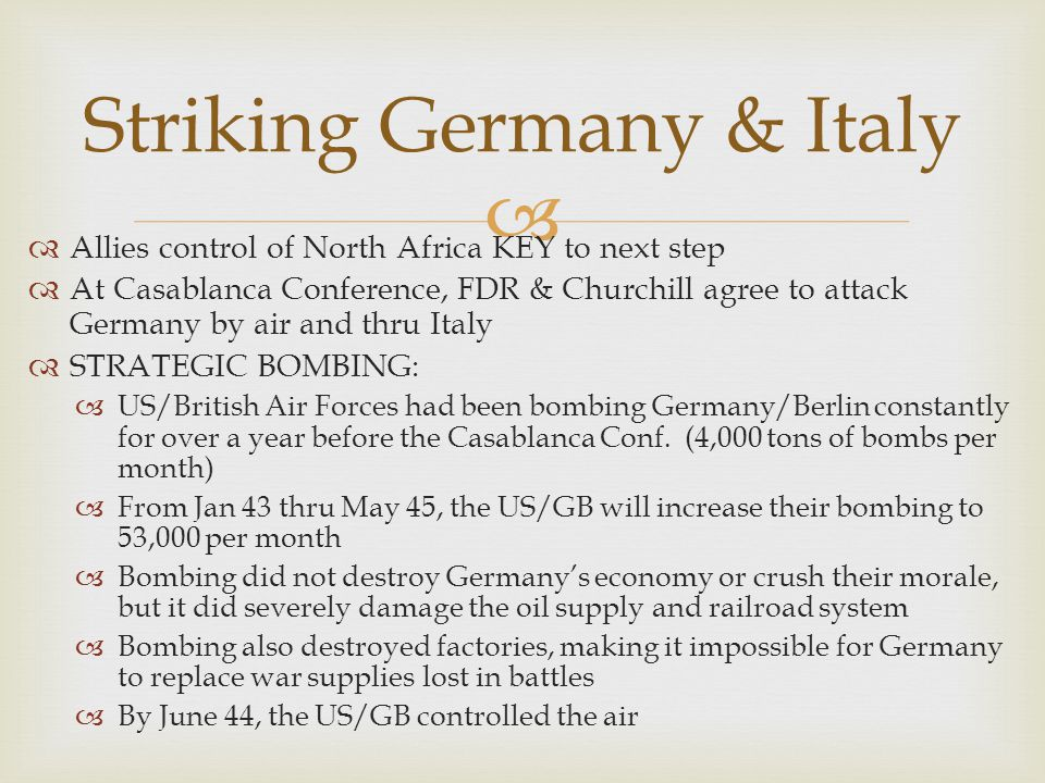 Striking Germany & Italy