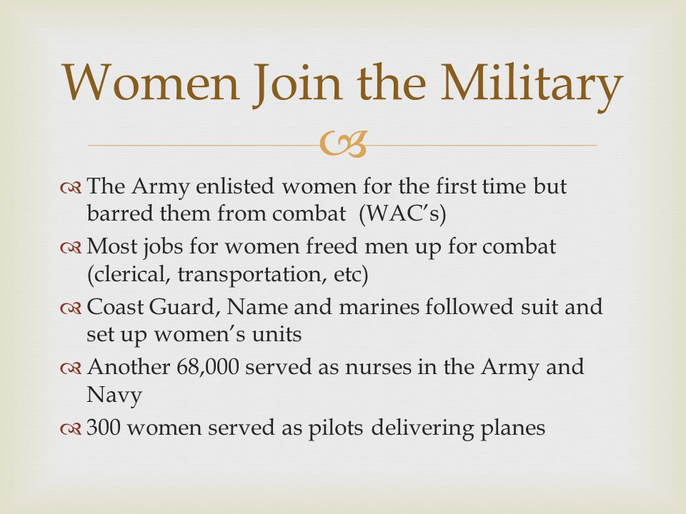 Women Join the Military