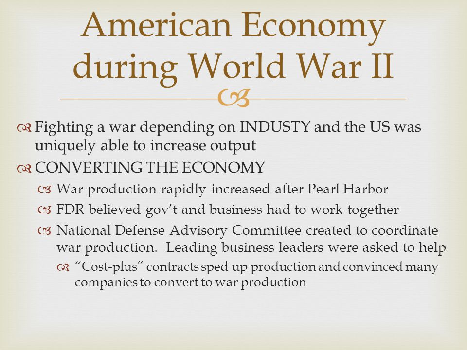 American Economy during World War II