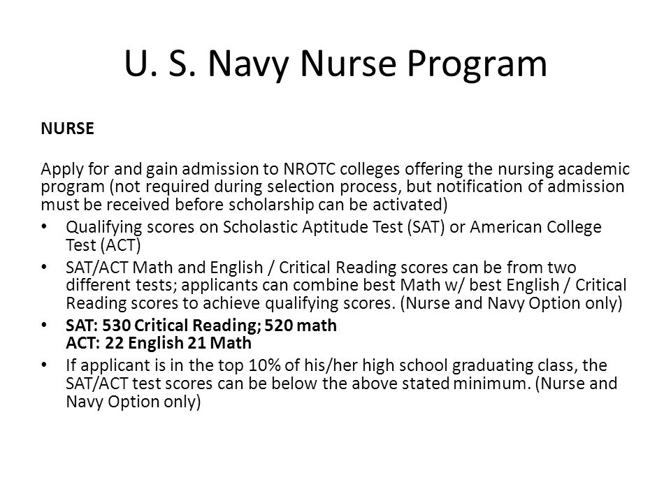 U. S. Navy Nurse Program NURSE