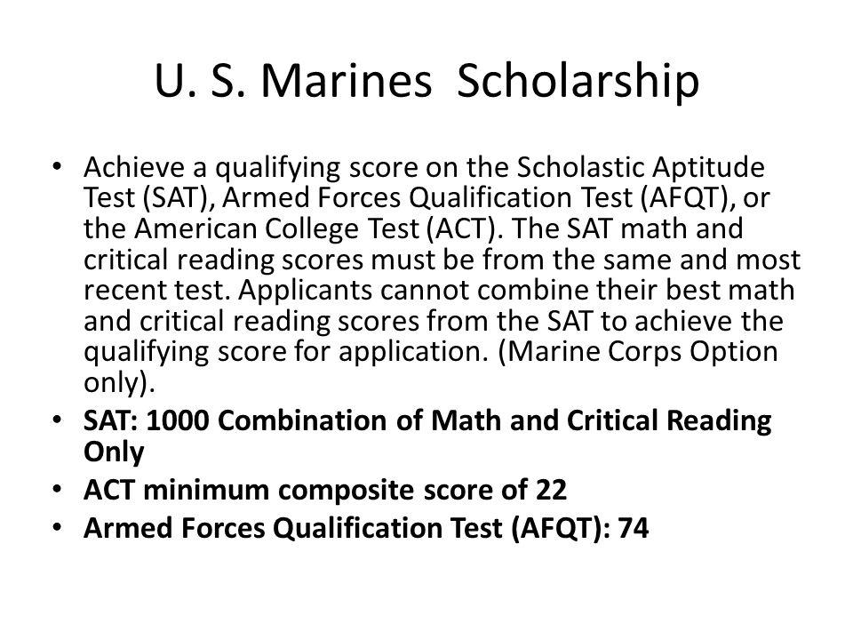 U. S. Marines Scholarship