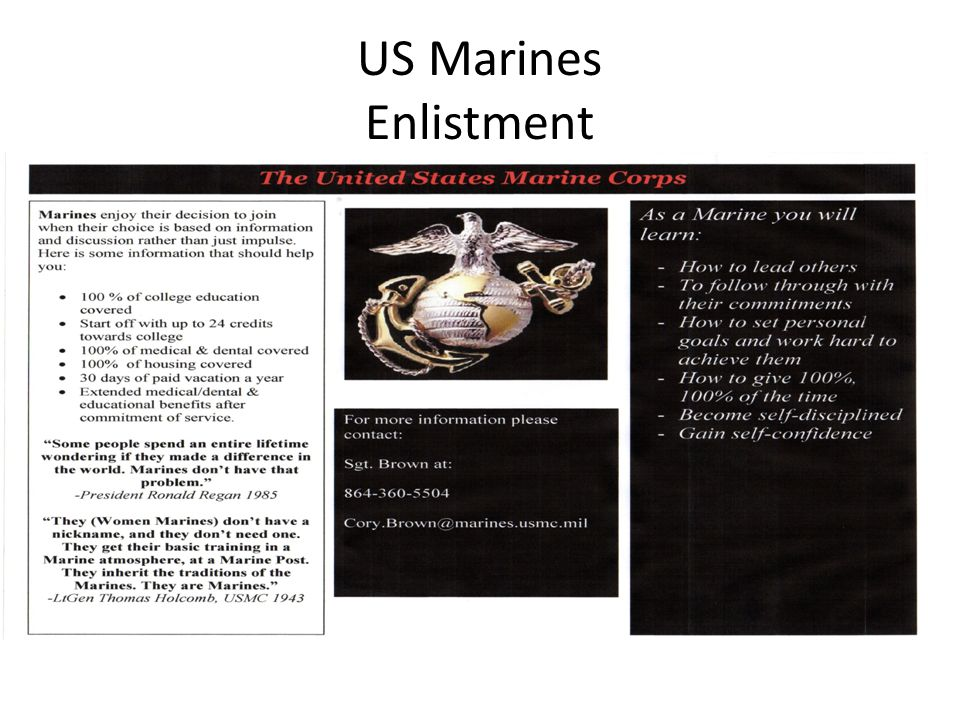 US Marines Enlistment