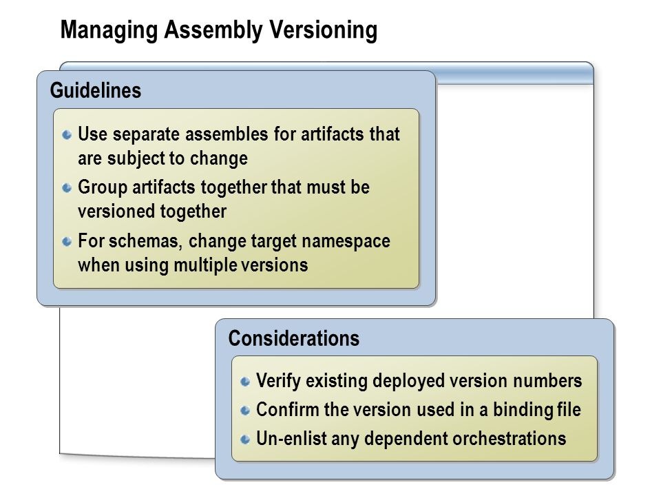 Managing Assembly Versioning