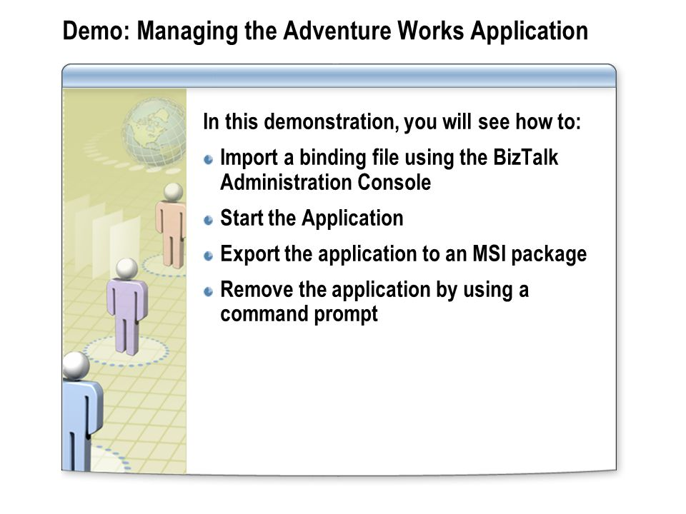 Demo: Managing the Adventure Works Application