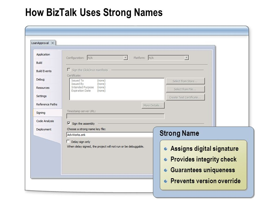How BizTalk Uses Strong Names