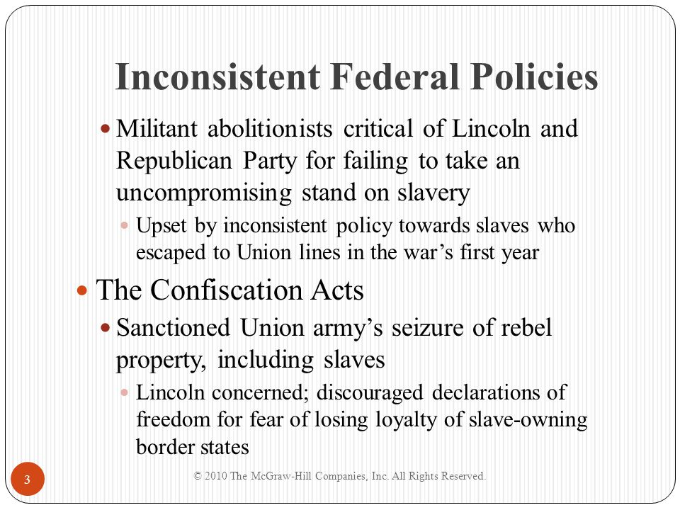 Inconsistent Federal Policies