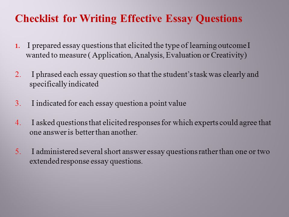writing essay type questions Get help with getting started on your college essay.