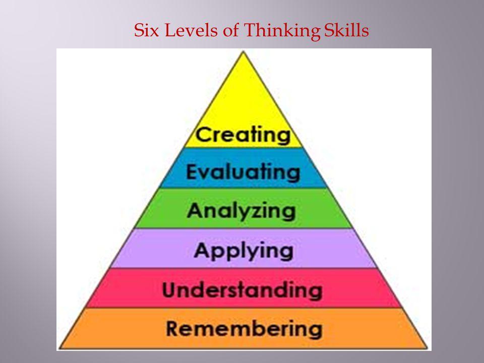 Six Levels of Thinking Skills