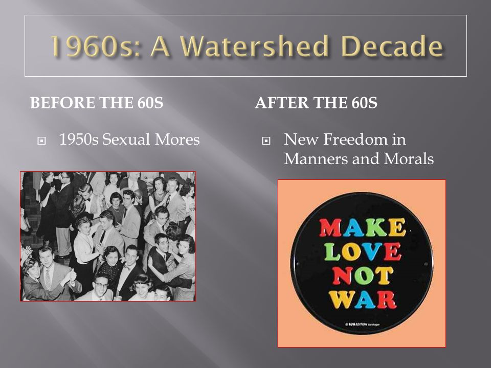 1960s: A Watershed Decade Before the 60s After the 60s